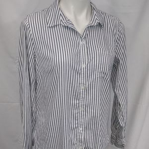 Gap Boyfriend Fit Stripe Button Down Sz Medium
